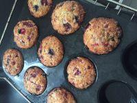 Muffins aux fruits rouges et au citron